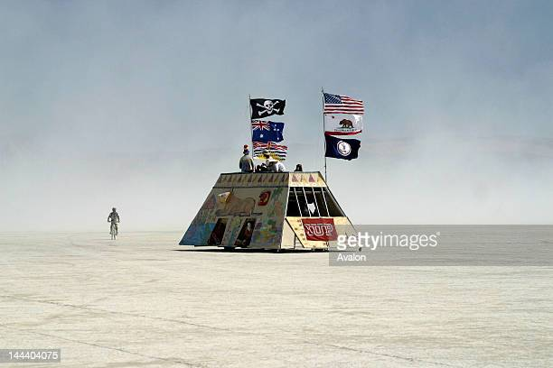 Atmosphere at the 2003 Burning Man festival Blackrock City Nevada USA Job 16054 Ref JHY