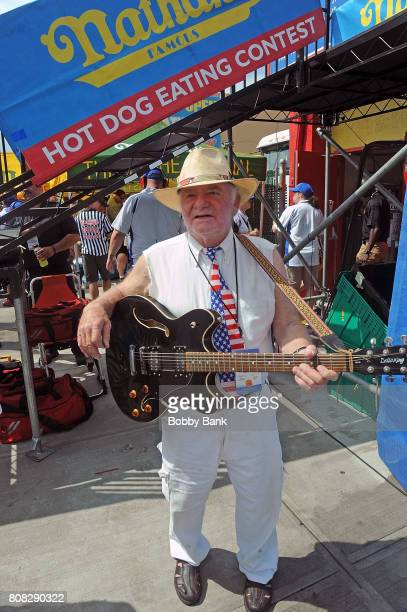 Atmosphere at the 2017 Nathans Famous 4th Of July International Hot Dog Eating Contest in Coney Island on July 4 2017 in the Brooklyn borough of New...