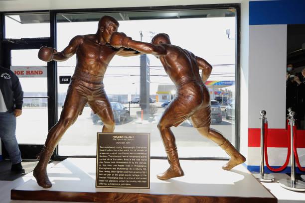 """PA: 50th Anniversary Ali-Frazier """"Fight of the Century"""" Statue Dedication"""