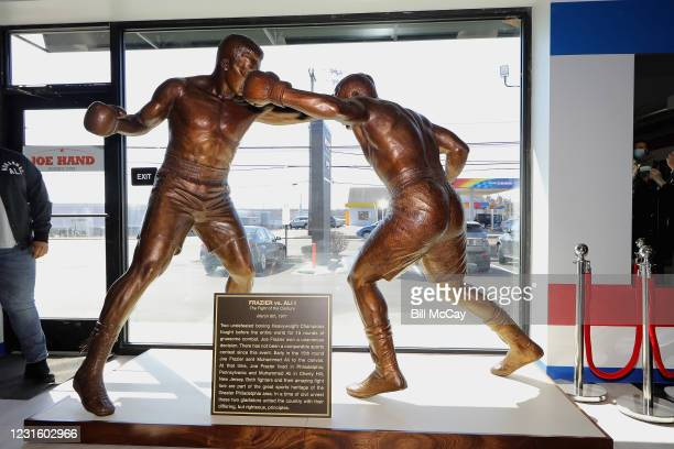 """Atmosphere at the 50th Anniversary Ali-Frazier """"Fight of the Century"""" Statue Dedication on March 8, 2021 at Joe Hand Gym in Feasterville,..."""