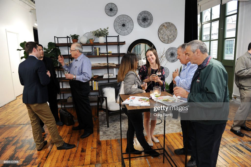 Atmosphere at the AD, Bon Appetit and Delta Faucet toast of the Conde Nast Kitchen Studio on May 16, 2018 in New York City.