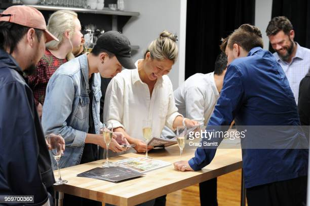 Atmosphere at the AD Bon Appetit and Delta Faucet toast of the Conde Nast Kitchen Studio on May 17 2018 in New York City