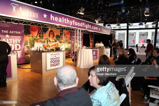Atmosphere at the Aetna Healthy Food Fight regional semifinal cookoff at ABC Studios on December 2 2011 in New York City