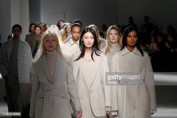 Atmosphere at the Agnona show at Milan Fashion Week Autumn/Winter 2019/20 on February 20 2019 in Milan Italy