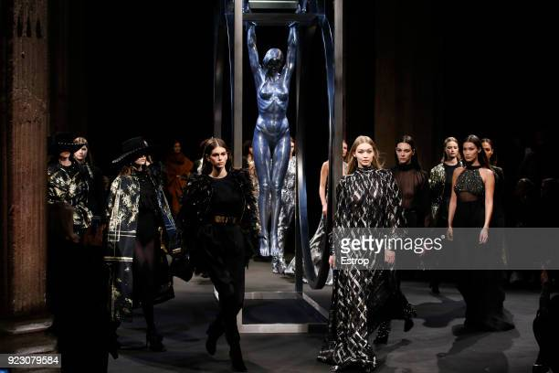 Atmosphere at the Alberta Ferretti show during Milan Fashion Week Fall/Winter 2018/19 on February 21 2018 in Milan Italy