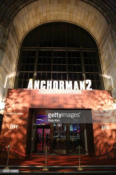 Atmosphere at the Anchorman 2 The Legend Continues US premiere after party at Cipriani 42nd Street on December 15 2013 in New York City