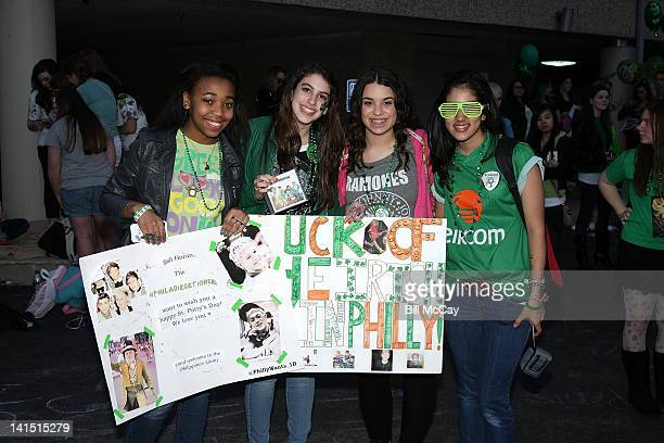 Atmosphere at the band One Direction's Radio Station Q102 performance March 17, 2012 in Bala Cynwyd, Pennsylvania.