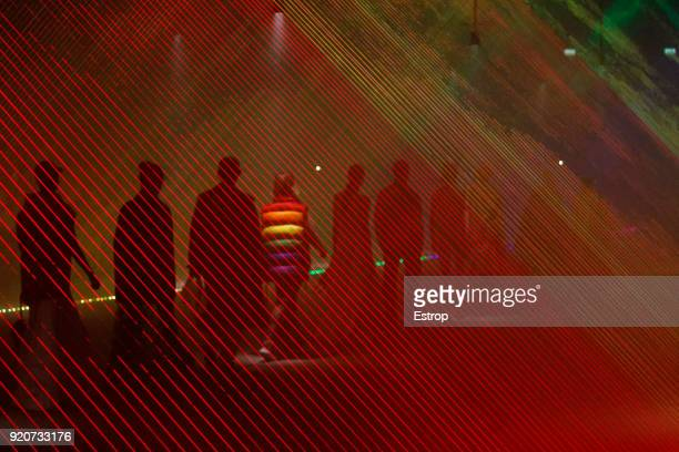 Atmosphere at the Burberry show during London Fashion Week February 2018 at Dimco Buildings on February 17 2018 in London England