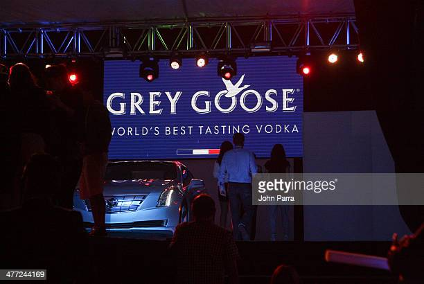 atmosphere at the Carolina Herrera Fashion Show with GREY GOOSE Vodka at the Cadillac Championship at Trump National Doral on March 7 2014 in Doral...