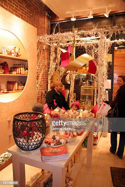 Atmosphere at the Carols Daughter Harlem Flagship Store in New York New York