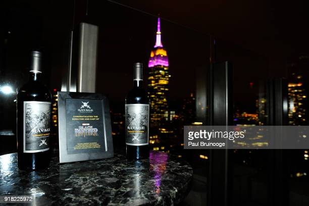 Atmosphere at The Cinema Society with Ravage Wines Synchrony host the after party for Marvel Studios' 'Black Panther' at The Skylark on February 13...