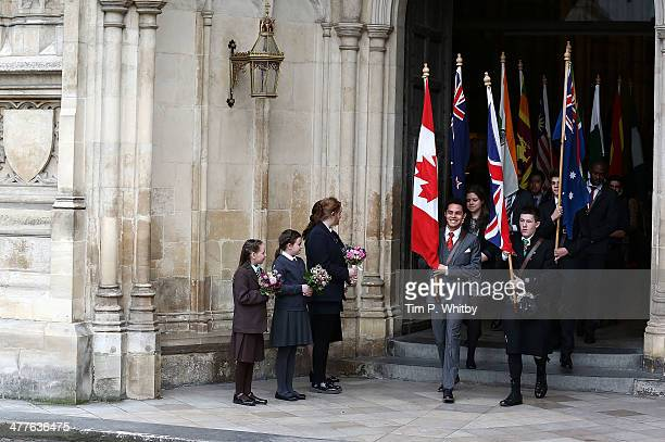 Atmosphere at the Commonwealth day observance service at Westminster Abbey on March 10 2014 in London England