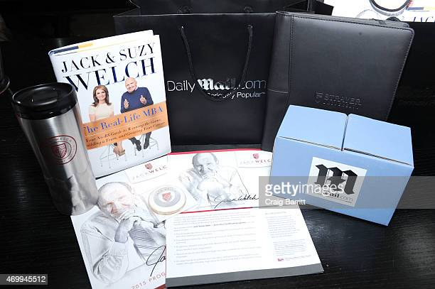 Atmosphere at the DailyMailcom Answers To Correspondents with Jack Suzy Welch on April 15 2015 in New York City