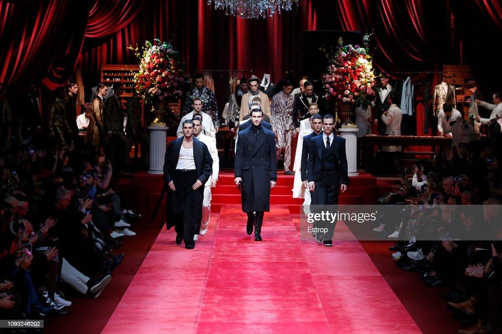 Dolce & Gabbana - Runway - Milan Men's Fashion Week Autumn/Winter 2019/20 : ニュース写真