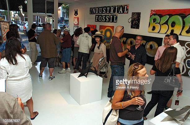 Atmosphere at the Down By Law New York's Underground Explosion art exhibition opening reception at the Eric Firestone Gallery on August 14 2010 in...