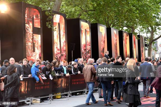 Atmosphere at the European premiere of 'Godzilla' held at the Odeon Leicester Square on May 11 2014 in London England