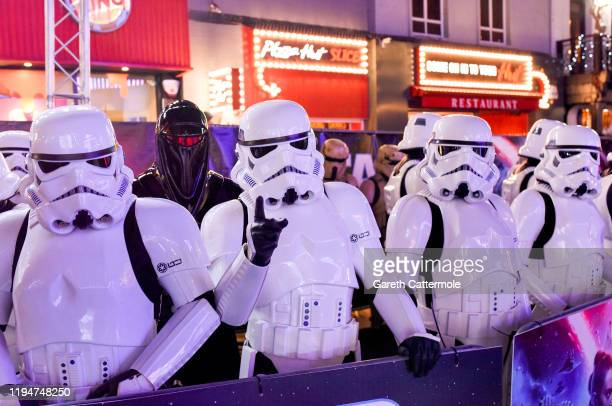 """Atmosphere at the European premiere of """"Star Wars: The Rise of Skywalker"""" at Cineworld Leicester Square on December 18, 2019 in London, England."""