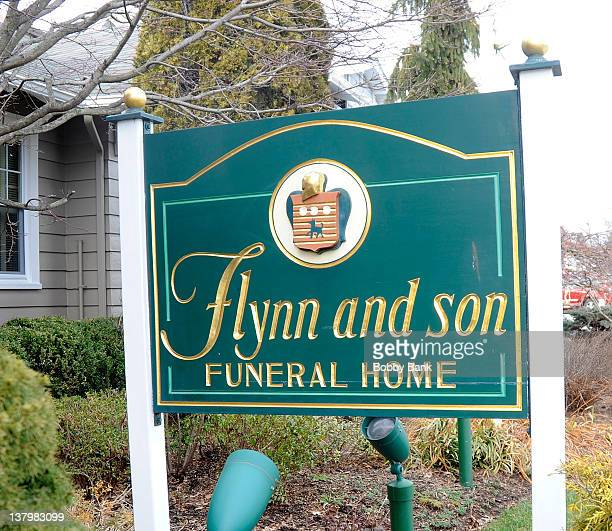 Atmosphere at the Flynn & Son Funeral Home outside of the Wake for actor, Robert Hegyes on January 29, 2012 in Woodbridge, New Jersey.