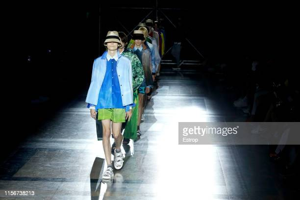 Atmosphere at the Fumito Ganryu fashion show during Paris Men's Fashion Week Spring/Summer 2020 on June 18, 2019 in Paris, France.