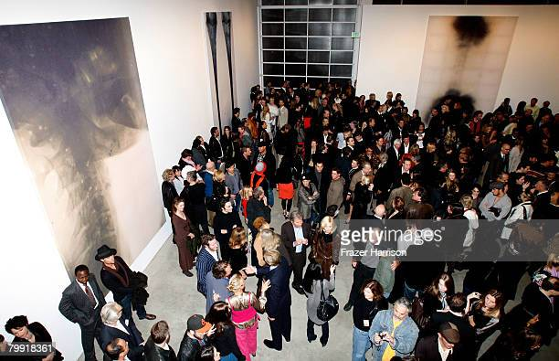 Atmosphere at the Gagosian Gallery opening reception For Julian Schnabel exhibition of recent paintings on February 21 2008 in Beverly Hills...