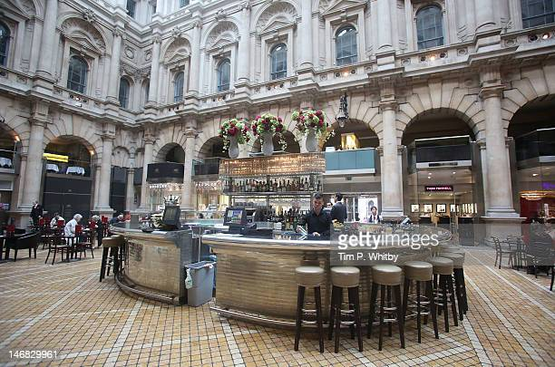 Atmosphere at The Grand Cafe in the courtyard of The Royal Exchange which played host to some of Britain's most revered craftsmen as they abandon...