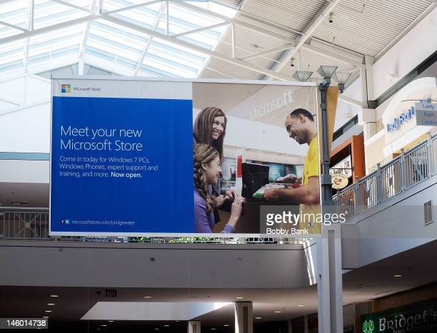 Atmosphere at the grand opening of the Microsoft Store on May 20 2012 in Bridgewater New Jersey