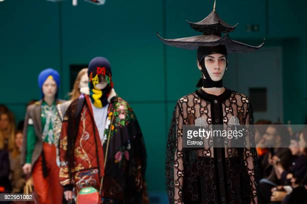 Atmosphere at the Gucci show during Milan Fashion Week Fall/Winter 2018/19 on February 21 2018 in Milan Italy