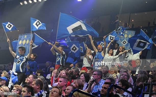 Atmosphere at the Hamburger SV 125th anniversary gala at O2 World on September 29 2012 in Hamburg Germany