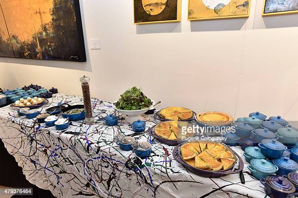 Atmosphere at the Hamptons Magazine And ArtHamptons Celebration Brunch With Jackson Pollock on July 3 2015 in Bridgehampton New York