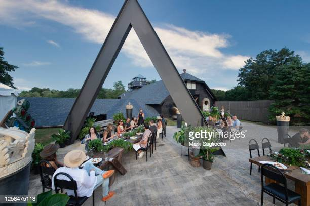Atmosphere at the Hamptons Magazine x The Chainsmokers VIP Dinner at The Barn at Nova's Ark on July 25, 2020 in Watermill, New York.