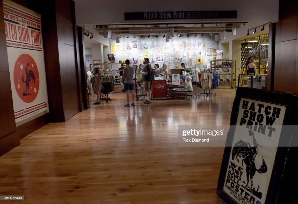 Atmosphere at the Hatch Show Print tour on July 12, 2014 in Nashville, Tennessee.