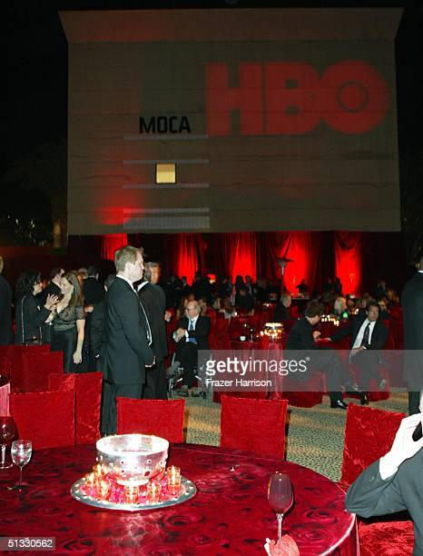 Atmosphere at the HBO post Emmy party following the 56th annual Primetime Emmy Awards held at the Pacific Design Centre on September 19, 2004 in Los...