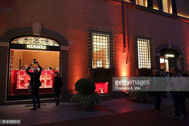 0b3d5c5f4f Atmosphere at the Hermes boutique opening on October 7 2016 in Rome Italy