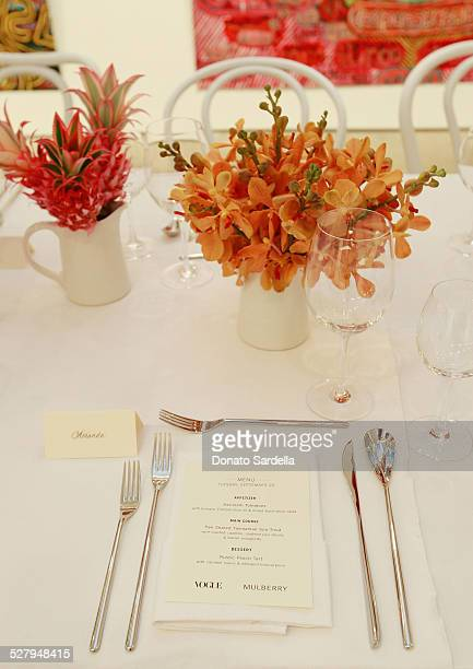 Atmosphere at the Honor Fraser Gallery venue for a dinner hosted by Vogue and Mulberry celebrating the work of Alexandra Grant on display in the...