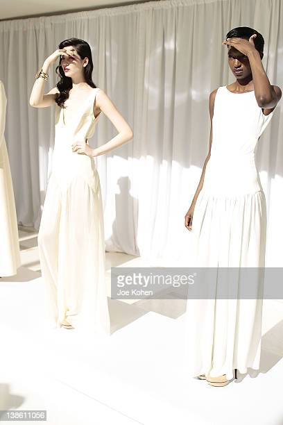 Atmosphere at the Houghton fall 2012 fashion show during Mercedes-Benz Fashion Week at Avery Fisher Hall, Lincoln Center on February 9, 2012 in New...