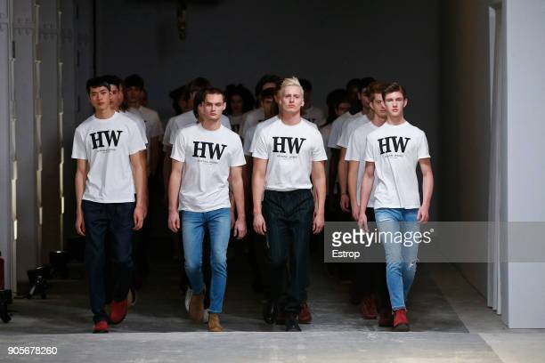 Atmosphere at the Hunting World show during Milan Men's Fashion Week Fall/Winter 2018/19 on January 15, 2018 in Milan, Italy.