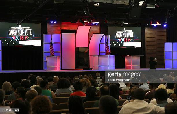 Atmosphere at the Inform Your Vote President Election Debate at The Tabernacle on October 8 2016 in Inglewood California