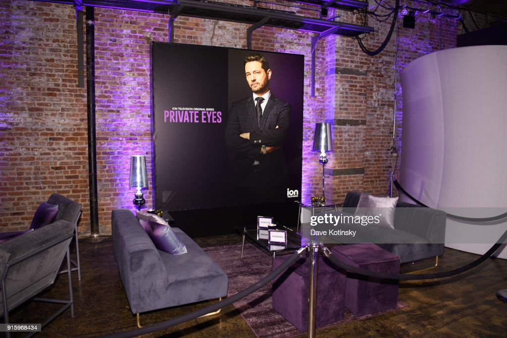 Atmosphere at the ION Television Private Eyes Launch Event on February 8, 2018 in New York City.