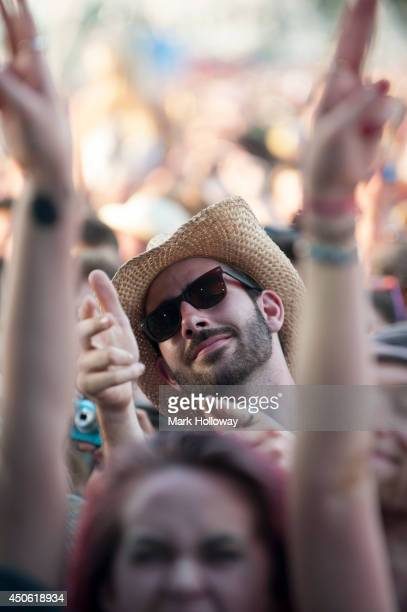 Atmosphere at The Isle of Wight Festival as Seaclose Park on June 14 2014 in Newport Isle of Wight