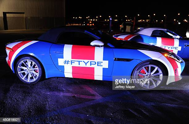 Atmosphere at the Jaguar FTYPE Coupe launch party at Raleigh Studios Playa Vista on November 19 2013 in Playa Vista California