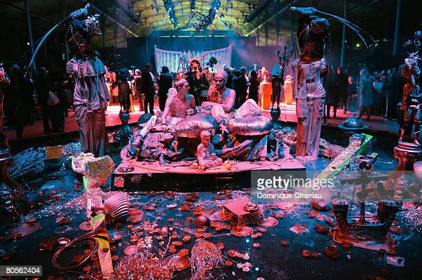 Atmosphere at the John Galliano fashion show during Paris Fashion Week Fall/Winter 2008 held at the Grande Halle de la Vilette on March 1 2008 in...