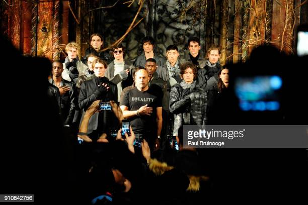 Atmosphere at the John Varvatos Fall/Winter 2018 Show Runway at The Angel Orensanz Foundation on January 26 2018 in New York City