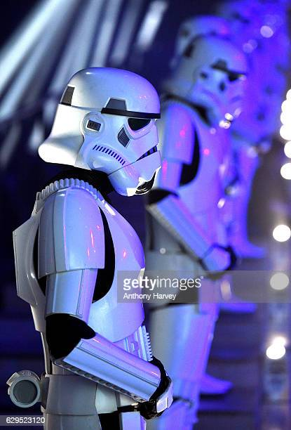 Atmosphere at the launch event for Rogue One A Star Wars Story at Tate Modern on December 13 2016 in London England