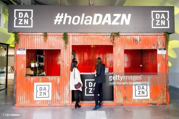 Atmosphere at the launch of DAZN the first global puresport live and ondemand streaming service in Spain at DAZN Space on February 27 2019 in Madrid...