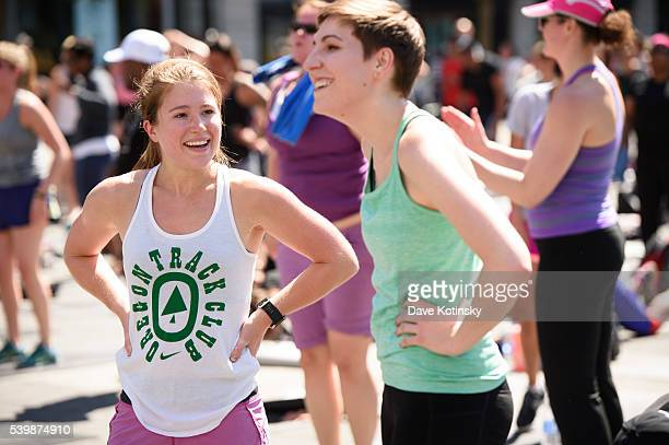 Atmosphere at the Launch Of Fitbit Local Free Community Workout on June 12 2016 in New York City