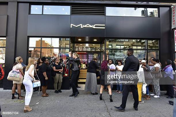 Atmosphere at the MAC Cosmetics Event With Isabel Bedoya At MAC Harlem on September 8 2016 in New York City