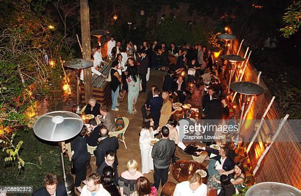 Atmosphere at the Marni dinner for Consuelo Castiglioni