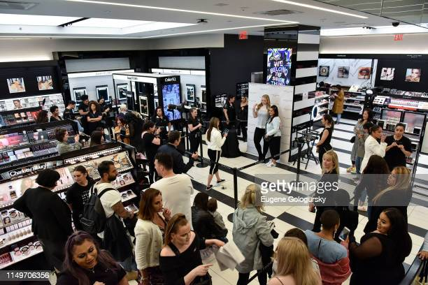 Atmosphere at the Meet Marc Jacobs Beauty Global Artistry Ambassador Nikkie Tutorials at Sephora Times Square on June 13 2019 in New York City