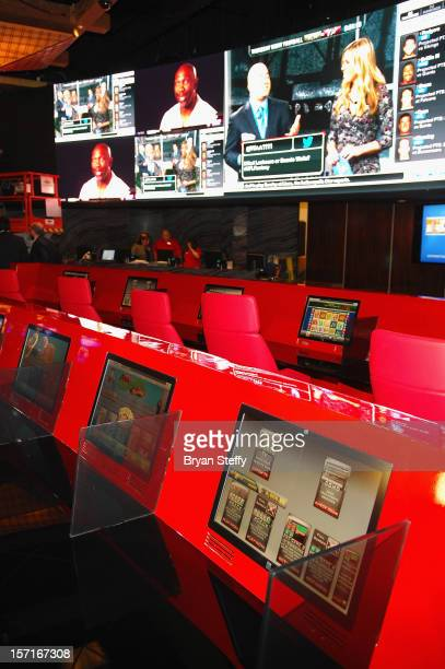 Atmosphere at the new Cantor Gaming sports book at the Silverton Casino Lodge on November 29 2012 in Las Vegas Nevada