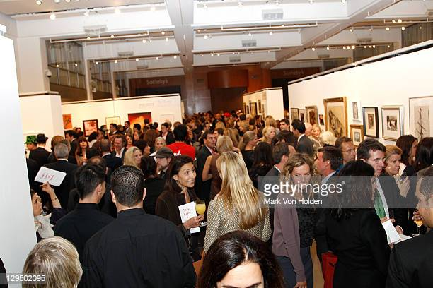 Atmosphere at The New York Academy of Art's 20th Annual Take Home a Nude benefit at Sotheby's on October 17 2011 in New York City